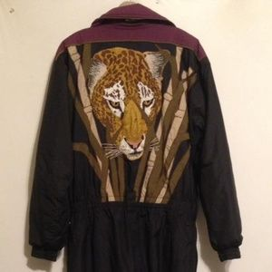 Other - Vintage Cheetah Thermal Insulated Ski Snow Suit